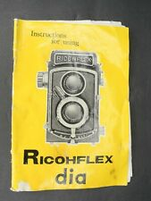 Ricohflex Dia Instructions For Using / User Manual