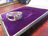 Angesagter 925 Silber Ring Esprit Bewegliches Element Sterling Modern Designer