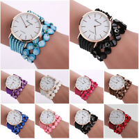 Vintage Crystal Luxury Womens Quartz Bracelet Watch Dress Diamond Wrist Watches