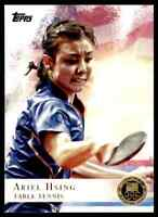 2012 TOPPS OLYMPICS GOLD ARIEL HSING TABLE TENNIS #75 PARALLEL