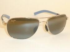 New Authentic Polarized  MAUI JIM GUARDRAILS  Sunglasses 327-17  Silver Frame