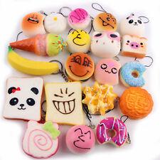 20Pcs Jumbo mittlere Mini Squishy weiche Panda / Brot / Kuchen Telefon-Bügel Toy