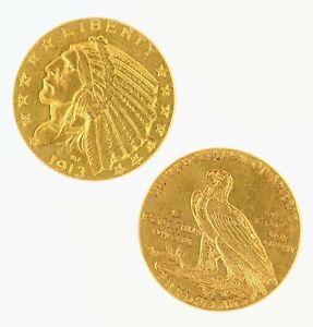 $5 Half Eagle Indian Head AU Raw Gold (Random Year)