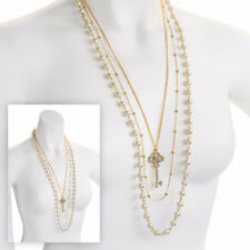 Pearl Crystal Beaded Costume Necklaces & Pendants