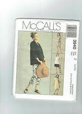 McCALLS pattern 3940 Maternity pants top jacket shorts dress SZ 20-22 plus