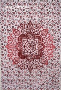 Cotton Tapestry Table Cover Small Poster Wall Hanging Mandala Flower Design Art