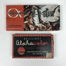 Lot Of 2 Alphacolor Chalk Pastels Hi-fi Grays Art Supplies Weber Costello