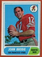 1968 Topps #139 John Brodie EX-EXMINT Marked San Francisco 49ers FREE SHIPPING