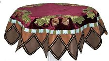 "KATHERINE'S COLLECTION 54"" ROUND WOODLANDERS TABLE COVER TOPPER"