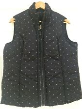 PER UNA BLACK AND WHITE POLKA DOT REVERSIBLE GILET LARGE UK 16