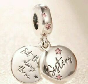 SILVER FOREVER SISTERS SISTER  BEAD CHARM GENUINE BARGAIN SALE PRICE !