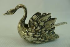 SOLID SILVER 800 ANTIQUE GERMANY HIGHLY DETAILED SWAN SHAPED SALT BOWL