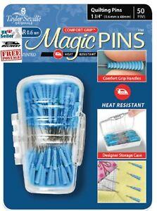 "Taylor Seville Magic Pins, 50 Quilting Pins 1 3/4"" (0.6mm x 48mm) regular size,"