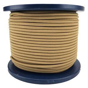 6mm Beige Elastic Bungee Rope Shock Cord Tie Down UV Stable