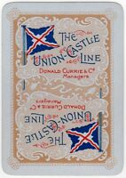 Playing Cards Single Card Old Wide UNION CASTLE LINE Shipping Advertising Art 5