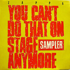 "FRANK ZAPPA ""YOU CAN'T DO THAT ON STAGE ANYMORE SAMPLER"" 2 lp UK  n/mint"