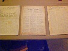 Vintage High School Newspapers.  Williams, Indiana.