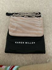 KM Pink Suede Clutch Bag/Handbag