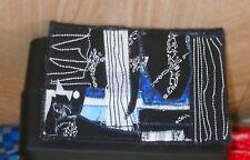 Abstract art fabric postcard mini art