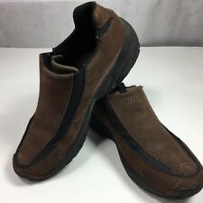 Ryka Loafer Brown Genuine Suede Shoe Low Cut Slip On Flats Womens US Size 7.5M