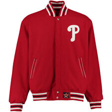 MLB Philadelphia Phillies Embroidered Reversible Jacket by JH Designs (4XL)