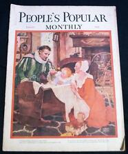 PEOPLE'S POPULAR MONTHLY MAGAZINE JAN 1930 VINTAGE FICTION CLOTHING FASHIONS