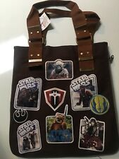 Disney Parks Star Wars Patches Canvas Tote Bag Extendable 15� X 14� New