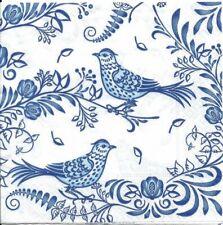 Lot de 4 Serviettes en papier Oiseau sur Porcelaine Decoupage Decopatch