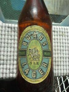 OLD BOAGS LAGER BEER BOTTLE 26 FL Oz. paper label.