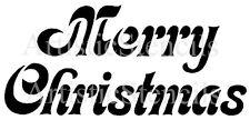 STENCIL Merry Christmas  10x4.5