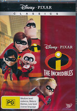 The Incredibles DVD NEW Region 4 Disney Pixar