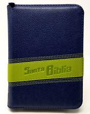 BIBLIA COMPACTA REINA VALERA 1960 CON CONCORDANCIA Y CIERRE EN AZUL Y VERDE
