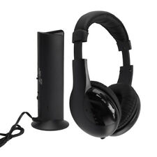 Wireless 5 in 1 Earphone HiFi FM Radio Headphones With Mic For TV PC DVD CD MP3