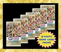 6 x 2020 AFL TEAMCOACH FOOTY SEALED PACKS 54 TRADING CARDS TEAM COACH RANDOM