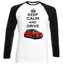 FIAT 500 Keep Calm-Nuovo T-shirt Cotone-Tutte le taglie in magazzino
