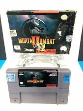 SNES Super Nintendo Mortal Kombat II 2 BOX and GAME-NO MANUAL