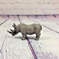 "Tree House Kids Plastic Toy Animal Rhino - 3"" T x 4.5"" / Figurine Safari Jungle"