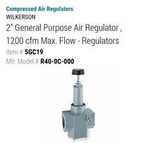 WILKERSON R40-0C-000 Air Regulator,2 In NPT,1,200 cfm,300 psi