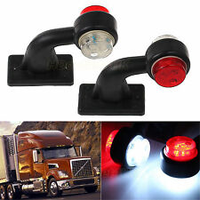 2X LED Red White Side Marker Light Lamp For Trailer Truck Caravan Lorry 12V/24V