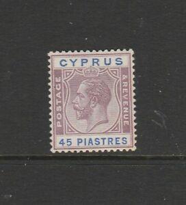 Cyprus 1924/8 GV 45pi, Fresh MM SG 116
