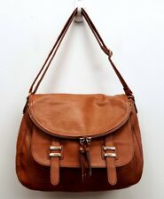 ALDO Brown Vegan Faux Leather Messenger Bag Crossbody Handbag