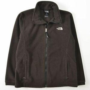 The North Face Brown Fleece Full Zip Jacket Girls XL 18
