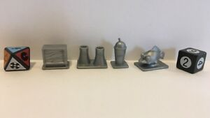 4 THE SIMPSONS Replacement SCENE IT? TOKENS Movers Pieces Parts 2 Dice