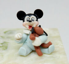 Vintage Clay Baby Mickey Mouse Nursery Toy Artisan Dollhouse Miniature 1:12