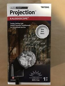 LED Lightshow Projection White Kaleidoscope Outdoor Yard Stake Decoration, NIB