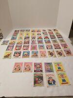 VINTAGE 1985-86 Garbage Pail Kids 57 Card Lot, Rare Cards Galore Throughout!