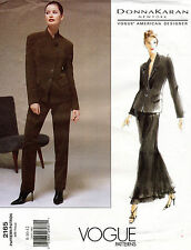 VOGUE Am.Designer Petite Jacket,Skirt,Pants Donna Karan Pattern 2165 8-12 UNCUT