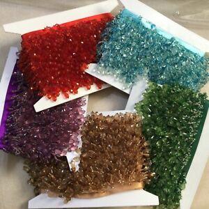Designer Shaped  Beaded Fringe Trim Pom Pom For Curtain Blind Upholstery Braid