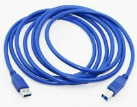 Blue USB 3.0 Male to USB 3.0 Type B Male Printer Data Cable, Extension Cord