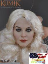 "1/6 Female Head Sculpt KUMIK KM 18-41 white hair For 12"" figure Hot Toys ❶USA❶"